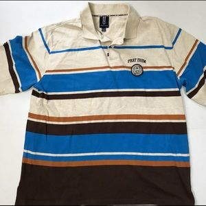 Vintage Phat Farm Striped Polo Shirt XL 90s